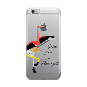 Rock Like A Flamingo-Phone Case - Aspireimaginary