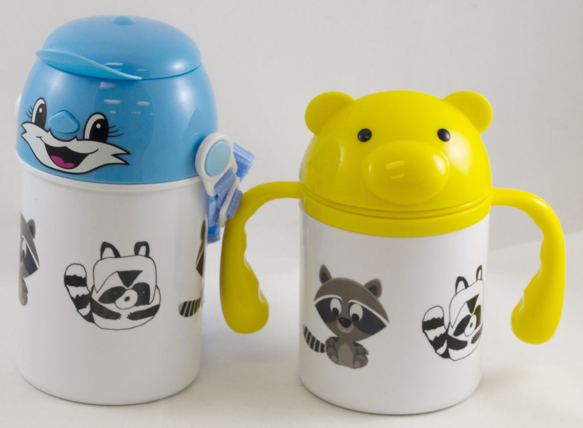 Cute Raccoon - Children's Water Bottle