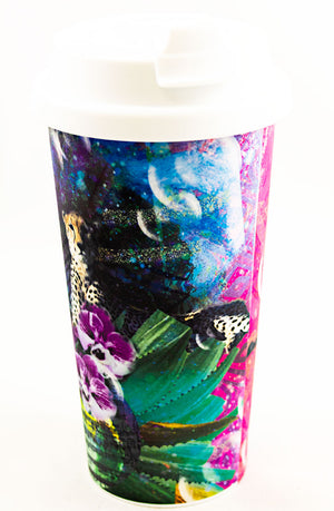 RuninAbstract- Double Wall Tumbler - Aspireimaginary