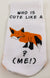 Cute Like A Fox aka Me-Toddler Sock - Aspireimaginary