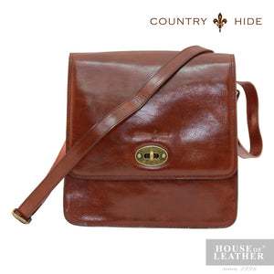 COUNTRY HIDE Austin 2030 Sling Bag - Brown - Leatherhouse2u  - 1