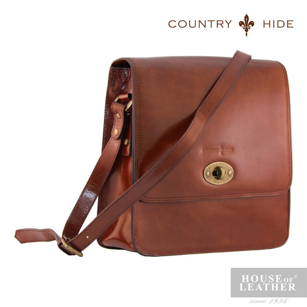 COUNTRY HIDE Austin 2030 Sling Bag - Brown - Leatherhouse2u  - 2