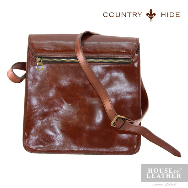 COUNTRY HIDE Austin 2030 Sling Bag - Brown - Leatherhouse2u  - 3