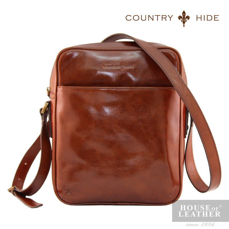 COUNTRY HIDE Austin 2195 Sling Bag - Brown - Leatherhouse2u  - 1