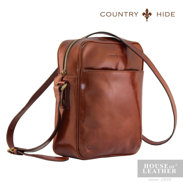 COUNTRY HIDE Austin 2195 Sling Bag - Brown - Leatherhouse2u  - 2