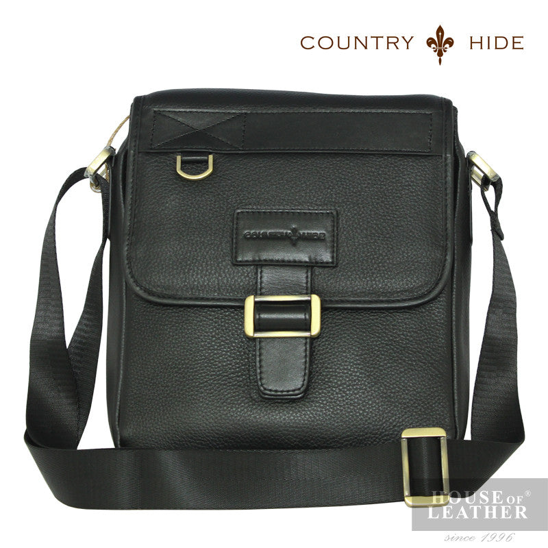 COUNTRY HIDE Criss 2200 Sling Bag - Black - Leatherhouse2u  - 1