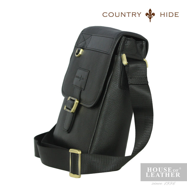 COUNTRY HIDE Criss 2200 Sling Bag - Black - Leatherhouse2u  - 2
