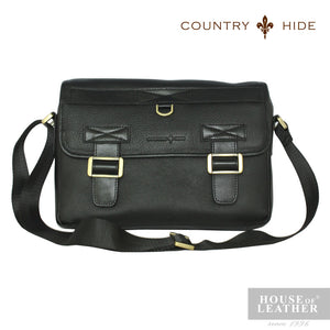 COUNTRY HIDE Criss 2202 Sling Bag - Black - Leatherhouse2u  - 1