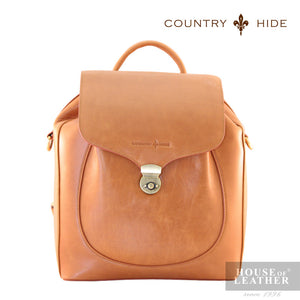 COUNTRY HIDE Freda 8081 Backpack - Brown - Leatherhouse2u  - 1
