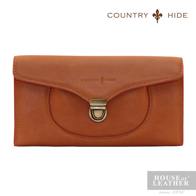 COUNTRY HIDE Freda 8085 Clutch Bag - Brown - Leatherhouse2u