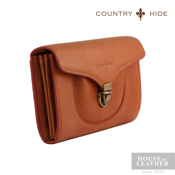 COUNTRY HIDE Freda 8085 Clutch Bag - Brown - Leatherhouse2u  - 2