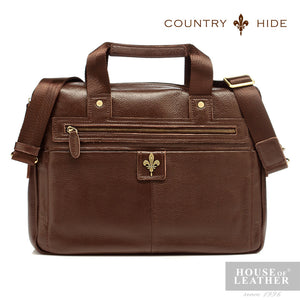COUNTRY HIDE Brayden 92047 Briefcase - Brown - Leatherhouse2u  - 1