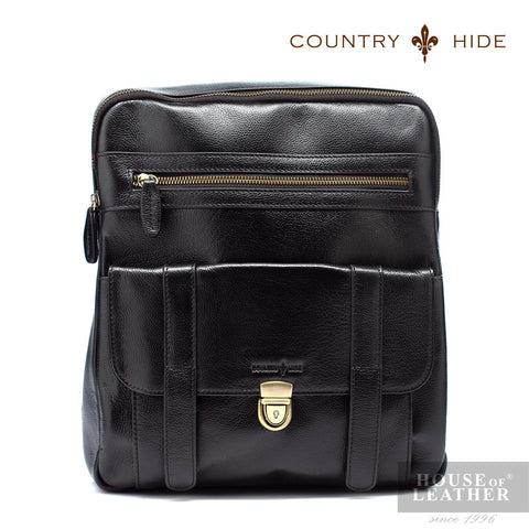 COUNTRY HIDE Brayden 92079 Backpack - Black - Leatherhouse2u  - 1