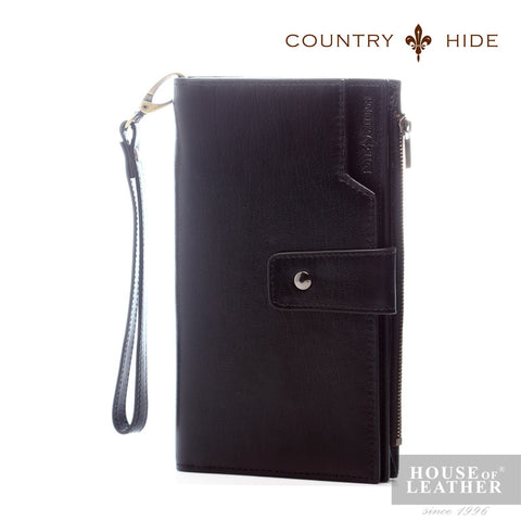 COUNTRY HIDE Cedric 96035 Clutch Bag - Black - Leatherhouse2u  - 1