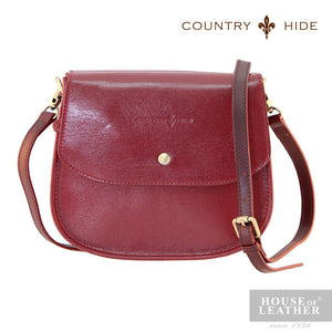 COUNTRY HIDE Hannah 96052 Sling Bag - Red - Leatherhouse2u  - 1