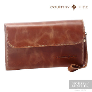 COUNTRY HIDE Ciara 96079 Clutch Bag - Dark Brown - Leatherhouse2u  - 1