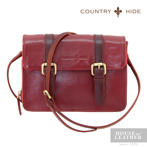 COUNTRY HIDE Hannah 96179 Sling Bag - Red - Leatherhouse2u  - 1