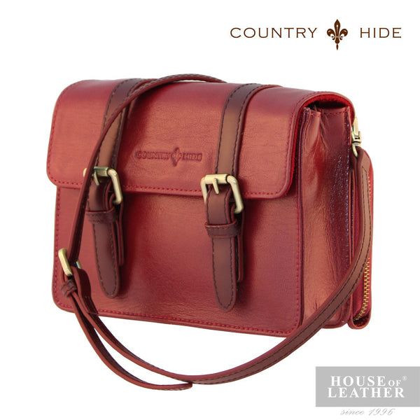 COUNTRY HIDE Hannah 96179 Sling Bag - Red - Leatherhouse2u  - 2