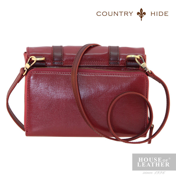 COUNTRY HIDE Hannah 96179 Sling Bag - Red - Leatherhouse2u  - 3