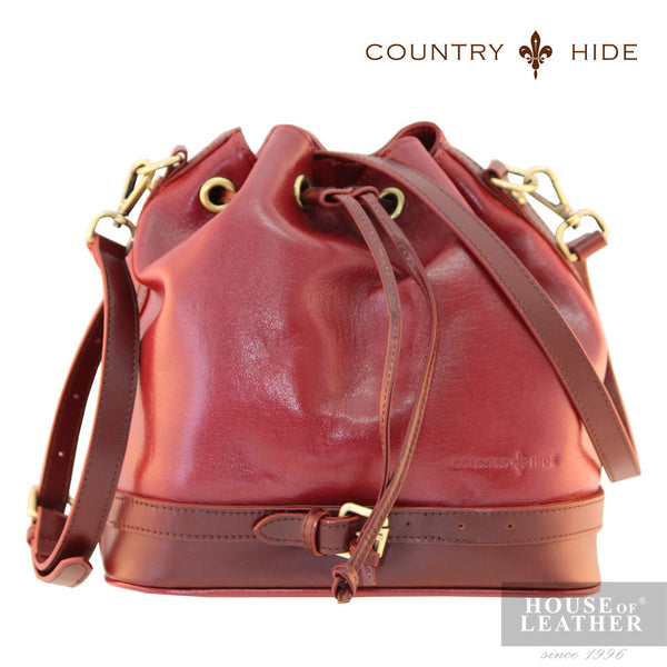 COUNTRY HIDE Hannah 96182 Sling Bag - Red - Leatherhouse2u  - 1