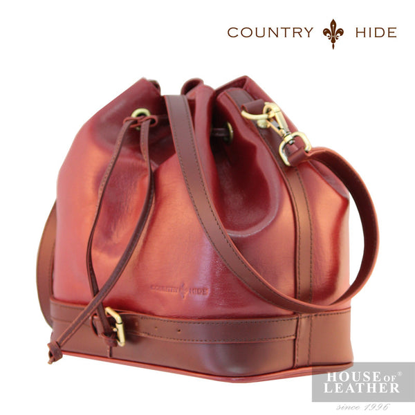 COUNTRY HIDE Hannah 96182 Sling Bag - Red - Leatherhouse2u  - 2