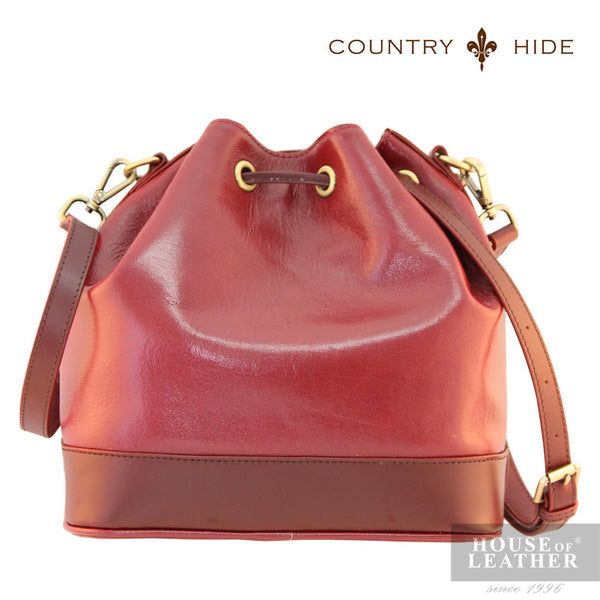 COUNTRY HIDE Hannah 96182 Sling Bag - Red - Leatherhouse2u  - 3