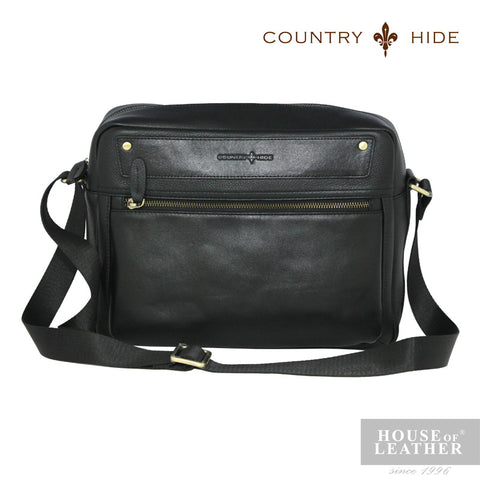 COUNTRY HIDE Criss 96212 Sling Bag - Black - Leatherhouse2u  - 1
