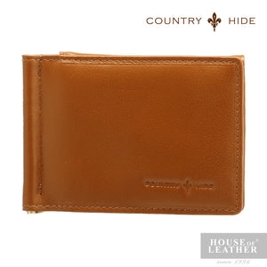 COUNTRY HIDE Ashton A-2008-1 Money Clip - Brown - Leatherhouse2u  - 1