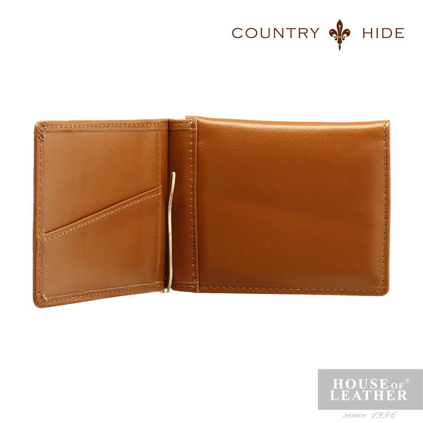 COUNTRY HIDE Ashton A-2008-1 Money Clip - Brown - Leatherhouse2u  - 2