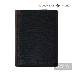 COUNTRY HIDE Ashton A2009-1 Passport Holder - Black - Leatherhouse2u  - 1