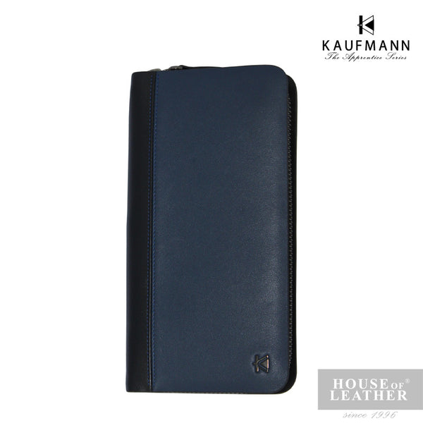 KAUFMANN James AXI-432-2608 Clutch Bag - Dark Blue - Leatherhouse2u  - 1