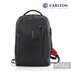 CARLTON Baron III Laptop Backpack - Black - Leatherhouse2u  - 1