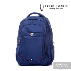 BRUNO MANFRED Hector BH15-23 Backpack - Blue - Leatherhouse2u  - 1