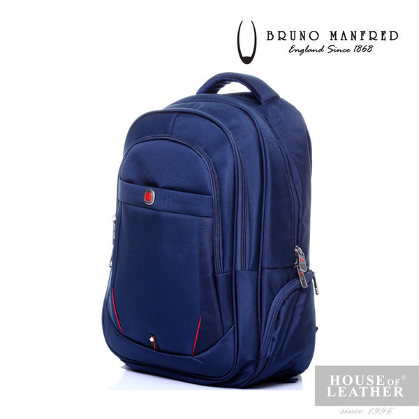 BRUNO MANFRED Hector BH15-23 Backpack - Blue - Leatherhouse2u  - 2