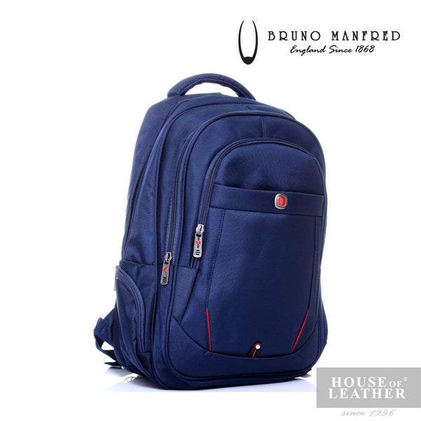 BRUNO MANFRED Hector BH15-23 Backpack - Blue - Leatherhouse2u  - 3