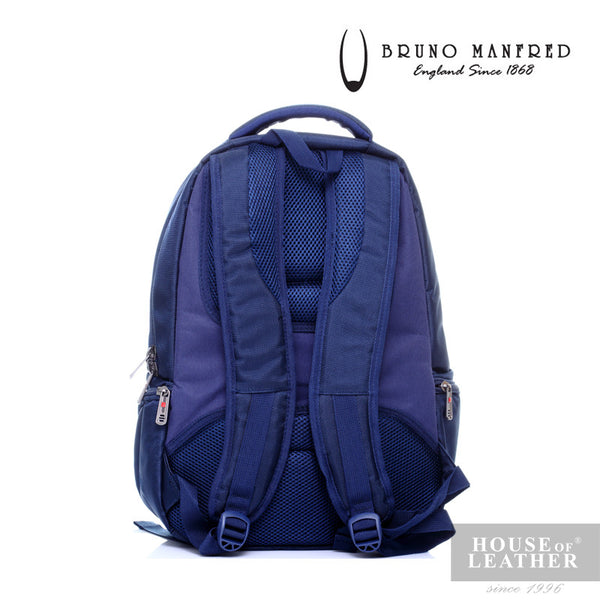 BRUNO MANFRED Hector BH15-23 Backpack - Blue - Leatherhouse2u  - 4