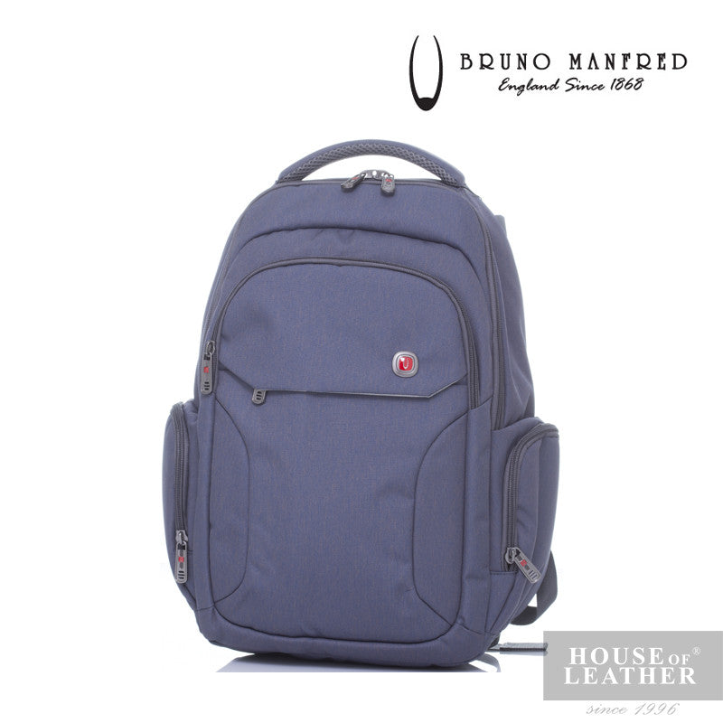 BRUNO MANFRED Hector BH215-31 Backpack - Grey - Leatherhouse2u  - 1