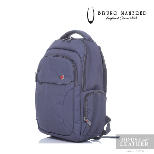 BRUNO MANFRED Hector BH215-31 Backpack - Grey - Leatherhouse2u  - 2