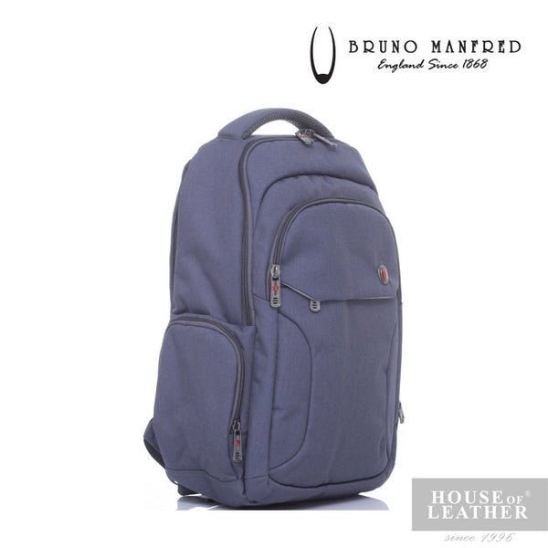 BRUNO MANFRED Hector BH215-31 Backpack - Grey - Leatherhouse2u  - 3