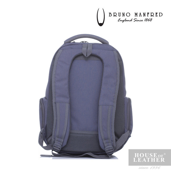 BRUNO MANFRED Hector BH215-31 Backpack - Grey - Leatherhouse2u  - 4