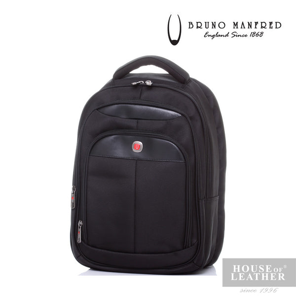BRUNO MANFRED Hector BH6730 Backpack - Black - Leatherhouse2u  - 1