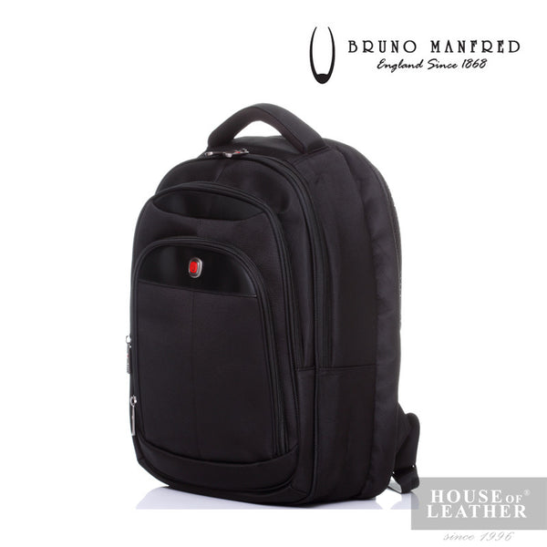 BRUNO MANFRED Hector BH6730 Backpack - Black - Leatherhouse2u  - 2