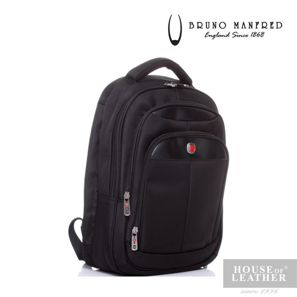BRUNO MANFRED Hector BH6730 Backpack - Black - Leatherhouse2u  - 3