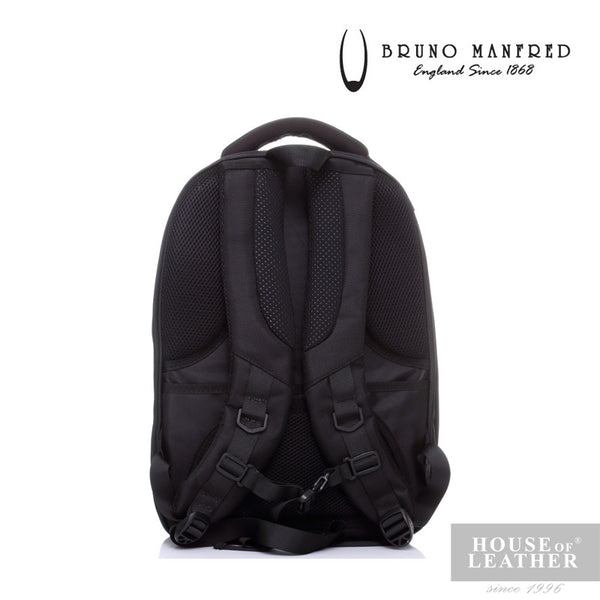 BRUNO MANFRED Hector BH6730 Backpack - Black - Leatherhouse2u  - 4