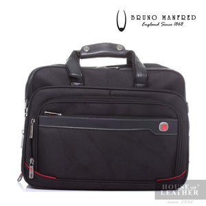 BRUNO MANFRED Hector BH8219 Laptop Bag - Black - Leatherhouse2u  - 1