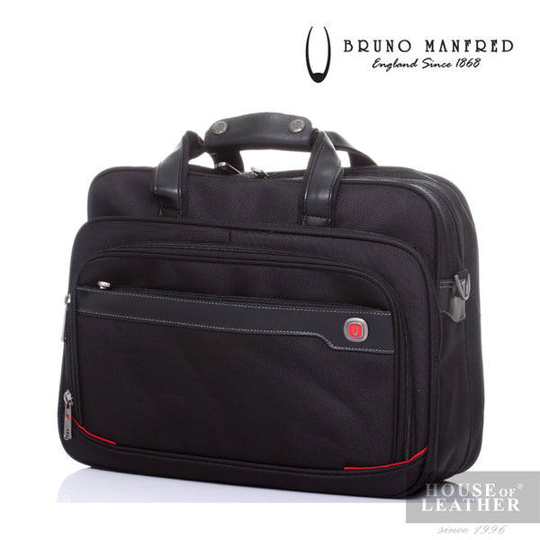 BRUNO MANFRED Hector BH8219 Laptop Bag - Black - Leatherhouse2u  - 2