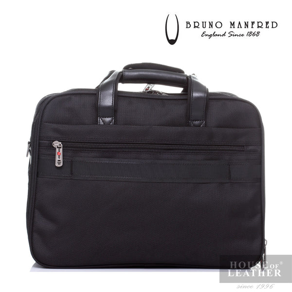 BRUNO MANFRED Hector BH8219 Laptop Bag - Black - Leatherhouse2u  - 4