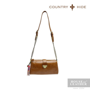 COUNTRY HIDE SAVANNAH 2017 YS-35-28-1609 CLUTCH BAG - BROWN