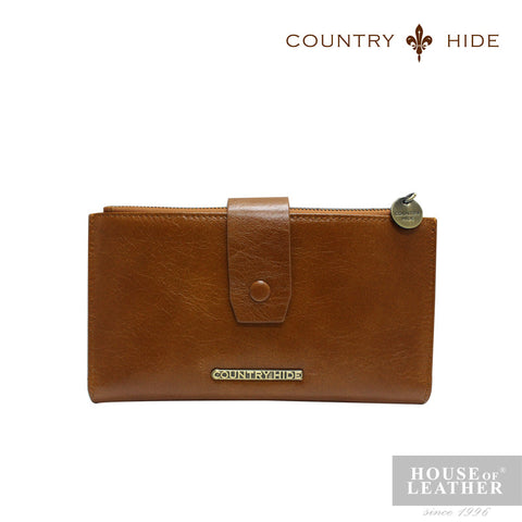 COUNTRY HIDE SAVANNAH 2017 YS-48-28-1682 LONG CARD WALLET - BROWN