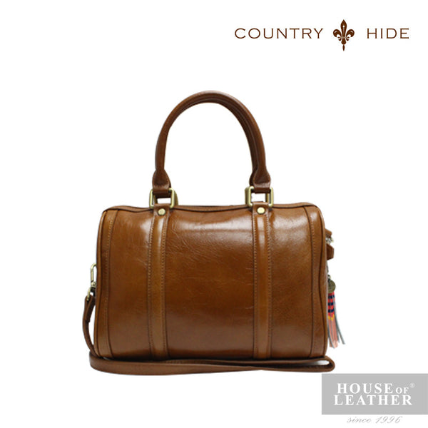 COUNTRY HIDE SAVANNAH 2017 YS-50-35-1767 HANDBAG W SLING - BROWN